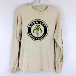 Star Wars Boba Fett Bounty Hunter Long Sleeve Crew Neck Tee Shirt M